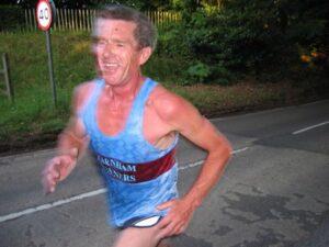 Terry Steadman running in 2006 Club Championship