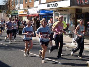 Members running in 2006 Fleet Half Marathon