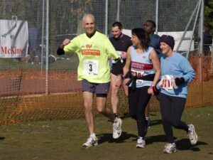 John Applebee running for charity in the 2006 Fleet Half Marathon