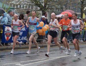 Member running in the 2006 London Marathon