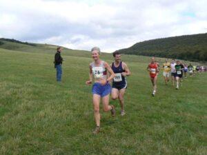 Jane Georghiou in the 2007 Butser Hill Fell Race