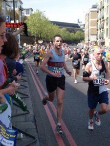 Dan Smith at the 2007 London Marathon