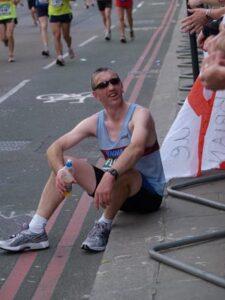 Vince Crowley at the 2007 London Marathon