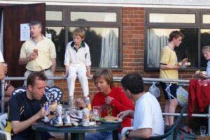 Members enjoying BBQ at the 2008 Club Championship
