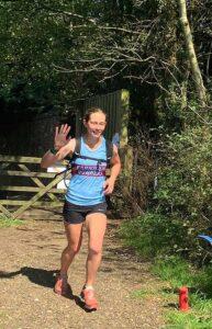 Eloise Stradling on her way in the 2020 Pilgrims marathon