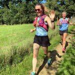 Helen Bracey and Vicky Goodluck in the 2020 Pilgrims half marathon