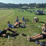 Some of the Farnham Runners group after the 2020 Pilgrims half marathon