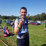 John Phillips savours his last potato after the 2020 Pilgrims half marathon