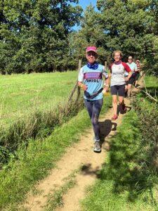 Shirley Perrett in the 2020 Pilgrims half marathon