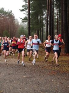 Members Chris Cramp and Jane Georghiou running at 2008 Alice Holt 10K