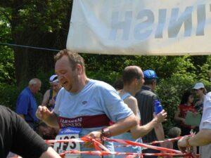 Richard Shepherd finishing 2008 Alton 10