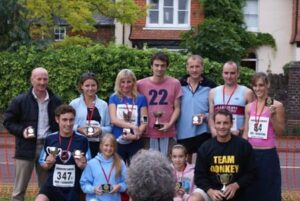 Prizewinners at 2008 Elstead Marathon