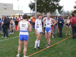 Jane Georghiou after the 2008 World Masters Athletics Championships cross country race