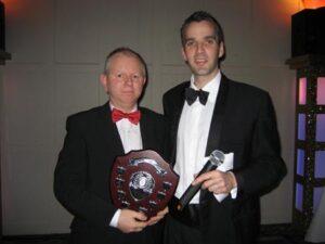 David georghiou receiving Steve Parker Award at the 2009 Annual Awards Dinner