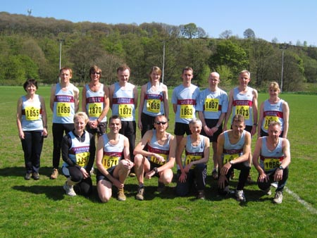 Farnham Runners team at the 2009 Todays Runner Winter League National Cross Country Final