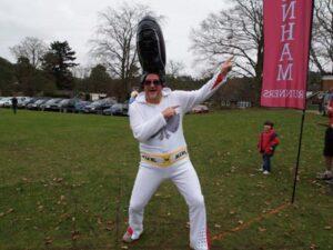 Richard Shepherd dressed as Elvis at the 2011 Club Handicap