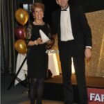 Shirley Perrett receiving trophy at 2012 Annual Awrads Dinner