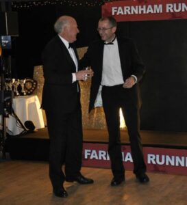 Pete Strange receiving trophy at 2012 Annual Awrads Dinner
