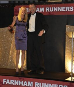 Sue Boxall receiving trophy at 2012 Annual Awrads Dinner