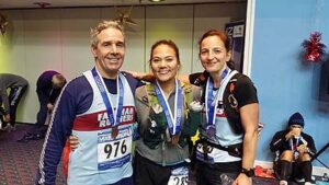 Members with medals after 2014 Portsmouth Coastal Marathon