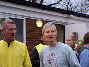 Terry Steadman and Jane Georghiou at the 2014 SXCL race at Farnham