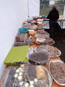 Cakes laid out for lunch at the 2014 SXCL race at Farnham