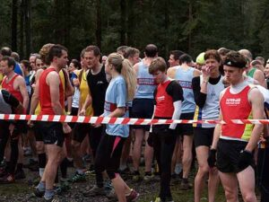 Members at the start of the 2014 SXCL race at Farnham