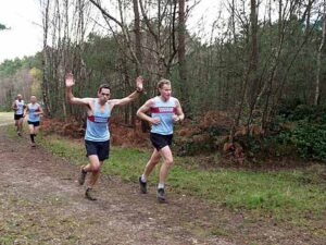 Members running in the 2014 SXCL race at Farnham