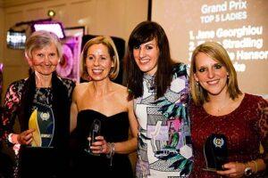 Ladies Grand Prix winners at at 2015 Annual Awards Dinner