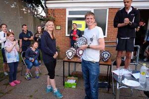 James Clarke receiving trophy at 2015 Club Championship
