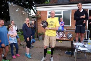 Stoofer receiving trophy at 2015 Club Championship