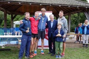 Farnham Runners winning mens team in 2016 Alice Holt 10k