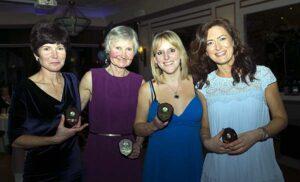 Ladies Grand Prix winners at 2016 Annual Awards Dinner