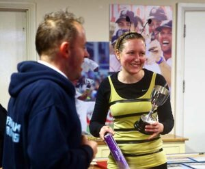 Lina Haines receives trophy at 2016 Club Handicap