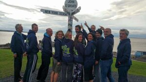 Group at start of John OGroats to Lands End 2016 FROGLE club relay