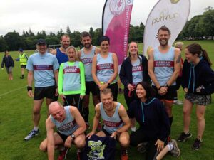 Group at Inverness parkrun during the John OGroats to Lands End 2016 FROGLE club relay