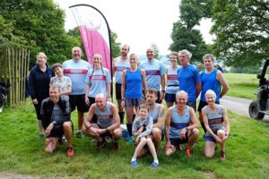 Group at Lanhydrock park run during the John OGroats to Lands End 2016 FROGLE club relay