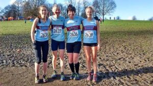 Ladies team at 2016 National Cross Country Championships