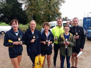 Members with trophies after the 2017 Alton Downland Challenge