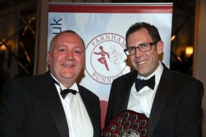 Niel Ambrose receiving Chairmans Award at 2017 Annual Awards Dinner