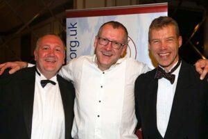 Richard Shepherd, Steve Kitney and Ian Carley at 2017 Annual Awards Dinner