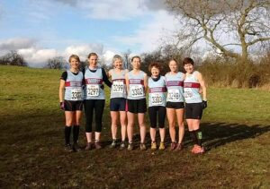 Ladies team at 2017 National Cross Country Championships