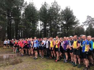 Runners lined for the start of the 2017 SXCL Farnham