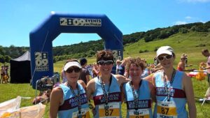 Ladies team at 2017 South Downs Relay Marathon