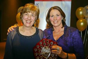 Chairmans award being presented to Alison Mungall at 2018 Annual Awards Dinner