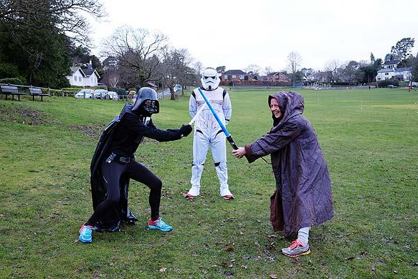 Members in Star Wars fancy dress at 2018 Club Handicap