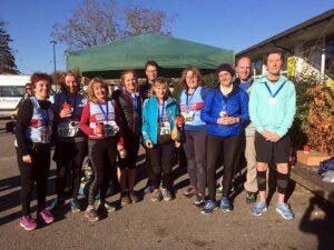 Group at 2018 HRRL Gosport Half Marathon