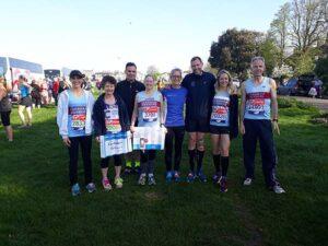Group at Blackheath before start of 2018 London Marathon