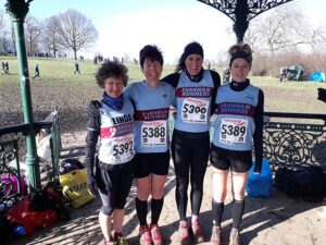 Ladies team at 2018 National Cross Country Championships
