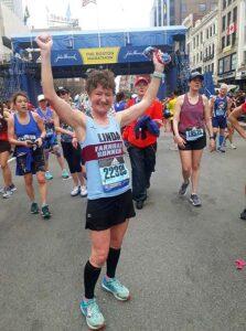 Linda Tyler after 2019 Boston Marathon
